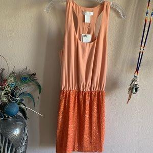 M M Couture peach dress 🍑